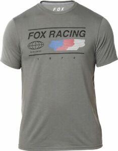 Mens Fox Racing Global Tech T-Shirt in Grey Size Small BNWT