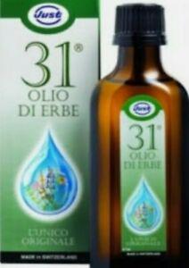 Olio 31 just L'unico ORIGINALE CON 31 ERBE da 75 ML piu omaggio