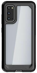 Clear Galaxy S20, S20 Plus, S20 Ultra Case with Metal Bumper Ghostek Atomic Slim