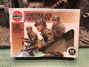 AIRFIX AMERICAN INFANTRY WW2 1/32  COMPLETE SET OF 14 HUMBROL ISSUE FIGURES MINT