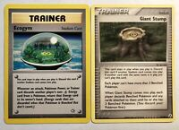 Ecogym 84/111 + 75/92 Giant Stump 2 Cards One FLAT Price A PLAIN Good Deal
