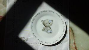 BABY HUGS CERAMIC BABIES TEDDY BEAR PLATE