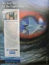 1992 PUB HARRIS HUGHES USAF DST TEAM DOWNSIZED TESTER USAF F-15 EAGLE AD