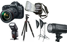 NEW Canon 5D Mark IV + 24-105 4L II + Bag + Flash + Tripod + Studio Lighting Kit