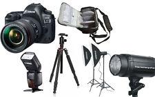 NEW Canon 5D Mark IV + 24-105 4L II + Bag + Flash + Tripod + Studio Lighting Kit