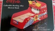 COCA COLA COKE BOWLING ALLEY MUSICAL BANK  DIECAST METAL   NEW!!