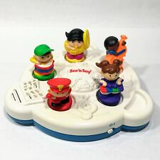 Vintage 1997 Mattel See n Say Musical Instruments Band Baby Toddler Toy Clean