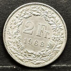 Switzerland 1968 2 FRANCS UNC Coin