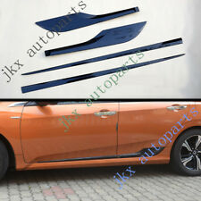 1Set Carbon Fiber Style Car Body Side Protect Trim Frame For Honda Civic 16-18 k