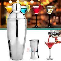 Pro Bartender Cocktail Shaker Set Drink Maker Mixer Martini & Measuring Jigger