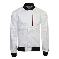 NIKE DESTROYER BOMBER JACKET MENS SIZE L LARGE WHITE VARSITY GYAKUSOU NSW LAB