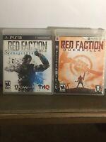 Red Faction Armageddon & Guerrilla Bundle PS3 PlayStation 3 Lot of 2 -no Manuals