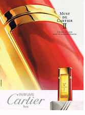 PUBLICITE ADVERTISING 035  1994  CARTIER   parfum MUST II