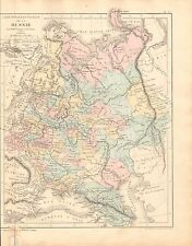 1868 ANTIQUE MAP- DRIOUX et LEROY-RUSSIA, PHYSICAL AND POLITICAL