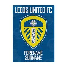 Leeds United f. C. - Personalisiert Decke (Crest 100x75)