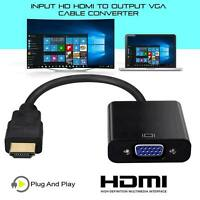 HDMI Male  to VGA Female Adapter Converter Cable for Video HDTV DVD PC 1080P