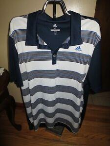 Men's Adidas Golf Black/White/Navy Polo Shirt Size XL Excellent Condition