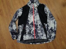 bnwt ladies full zip under armour reflective light weight jacket-large loose fit