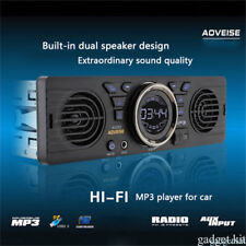 Bluetooth 12V Car Stereo Radio MP3 Player In-Dash Double Speaker +USB/SD/FM/AUX