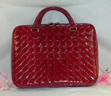 New Estee Lauder Tote Ex Large Make Up Case Travel Bag Red Patent Leather Look