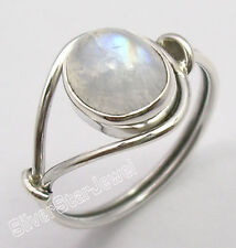 925 Sterling Silver Real RAINBOW MOONSTONE New Beautiful Best Gift Ring Any Size