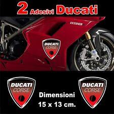 2 Adesivi DUCATI CORSE stemma old style