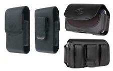 2x Black Leather Case Pouch Holster with Belt Clip for Apple iPhone 5