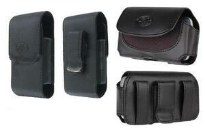 2x Leather Case Belt Holster Pouch w Clip for US Cellular Kyocera DuraXA Dura XA