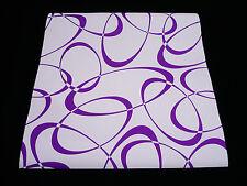 05647-10-)  moderne Papier Präge Tapete Retro-Design violett weiß
