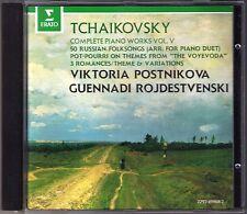 Viktoria POSTNIKOVA, ROZHDESTVENSKY TCHAIKOVSKY 50 Russian Folksongs Voyevoda CD