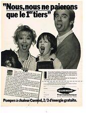 PUBLICITE ADVERTISING 054  1982  CUENO  THERMOTECHNIQUE  pompes à chaleur