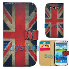 Retro Union Jack Flag Slot Wallet Leather Case Cover For Samsung Galaxy S3 i9300