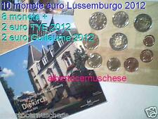 2012 10 monete 7,88 euro LUSSEMBURGO Luxembourg Luxemburg Letzebuerg Diekirch