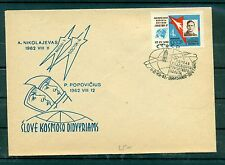 Space - Russia Ussr 1963 -  Cover Nikolaev - Popovicius