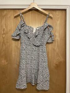 Ava Black And White Tea Dress Summer Dress Bardot