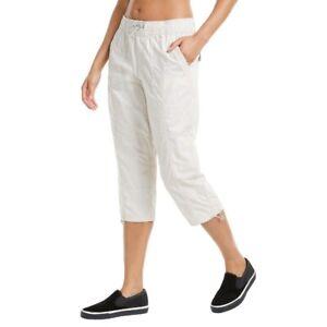 Calvin Klein Performance Smocked Waistband Cargo Pants Large Beige Women's New