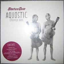 "NEU + OVP Limited CD + 7"" Single + T-Shirt Aquostic Stripped Bare - Status Quo"