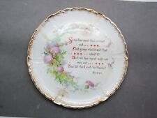 "Robert Burns Grace Poem Plate Warwick China Antique Thistle 9"" Scotland Poet"