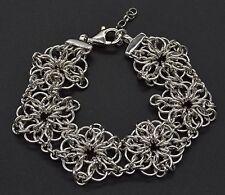 BM30 Italian Sterling silver 925 technibond flower bracelet
