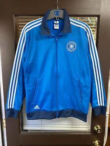2014 adidas Germany Authentic BLUE Soccer Football Track Jacket Kit RARE