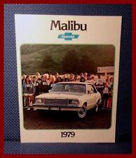 1979 Chevrolet MALIBU 16-Page Sales Brochure - New Old Stock