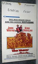 THE WAR WAGON original 1967 movie poster JOHN WAYNE/KIRK DOUGLAS