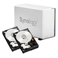 4TB (2x2TB WD Red) 2 Bay Synology DS218J NAS, Pre-tested & configured in RAID1 M