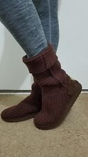 Woman's ugg boots knit with shearling sole inside.  size 7.5 or 8?