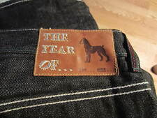 The Year of …..  Jeans size 44  green red piping DOG BOXER