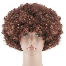 Unisex Funky Afro - Adult Fancy Dress Wig Brown LW
