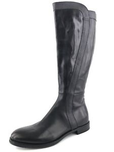 New AGL Black Leather Knee High Riding Boots Women's Size 40.5 N $595*