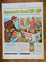1956 Minute Maid Lemonade Ad Lemonade Stand Kit GE Kitchen Appliance Ad