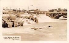 Idaho Falls, Bonneville County, Id, Snake River & Bridge, Rppc used 1937