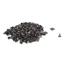 100x Kupfer Eisen 7mm Pyramiden Nieten Pyramidennieten Ziernieten Bronze E8Q6